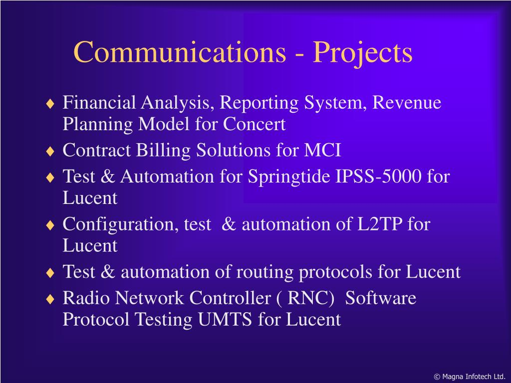Financial Analysis, Reporting System, Revenue Planning Model for Concert
