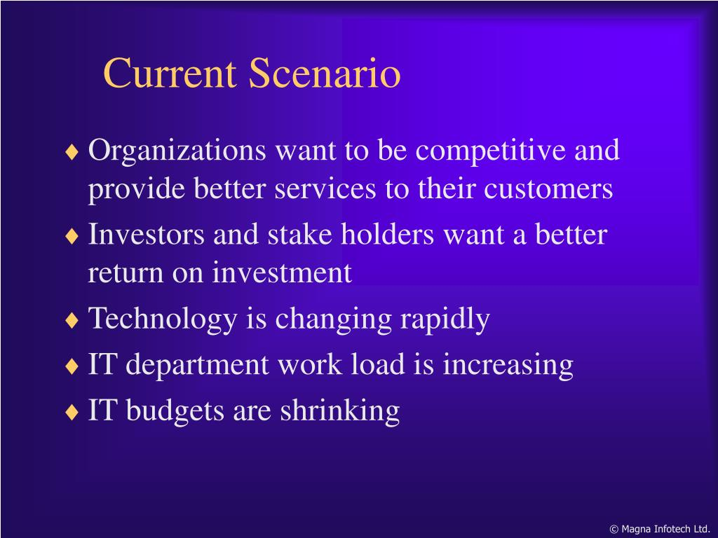 Organizations want to be competitive and provide better services to their customers