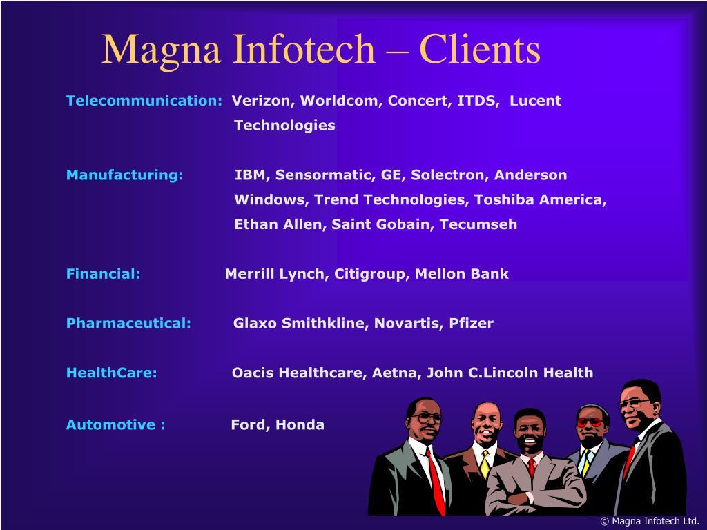 Magna Infotech – Clients