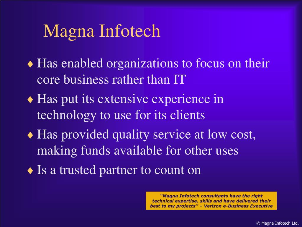 Has enabled organizations to focus on their core business rather than IT