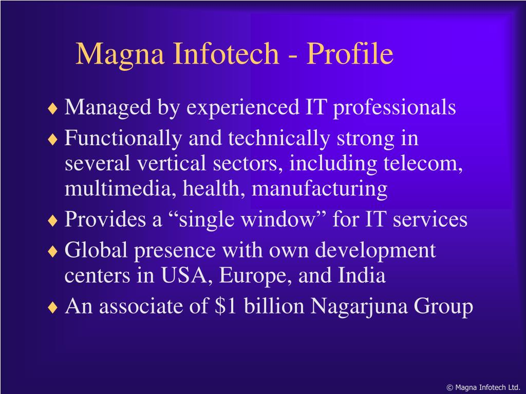 Managed by experienced IT professionals