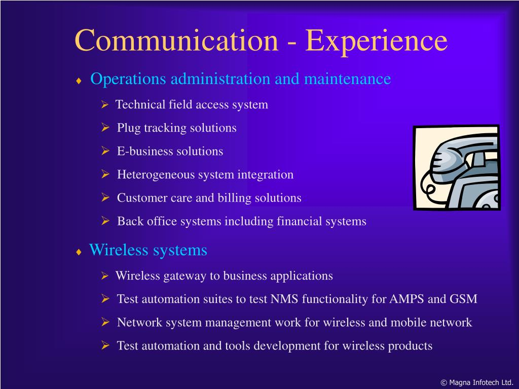 Communication - Experience