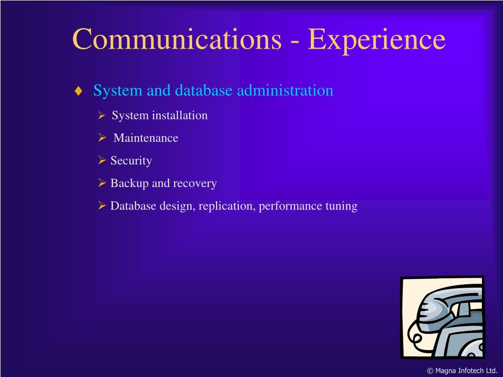Communications - Experience