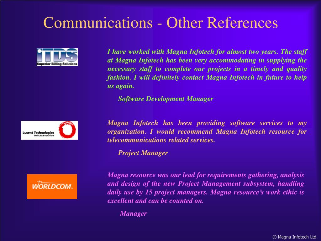Communications - Other References