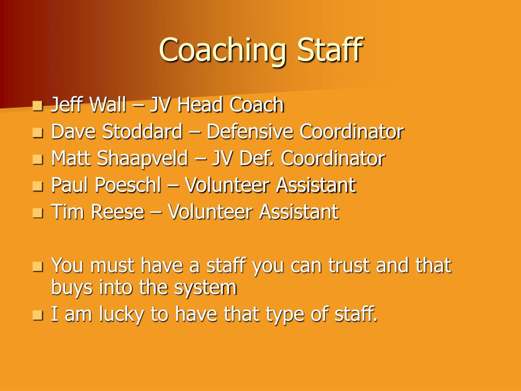 Coaching Staff