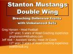 stanton mustangs double wing