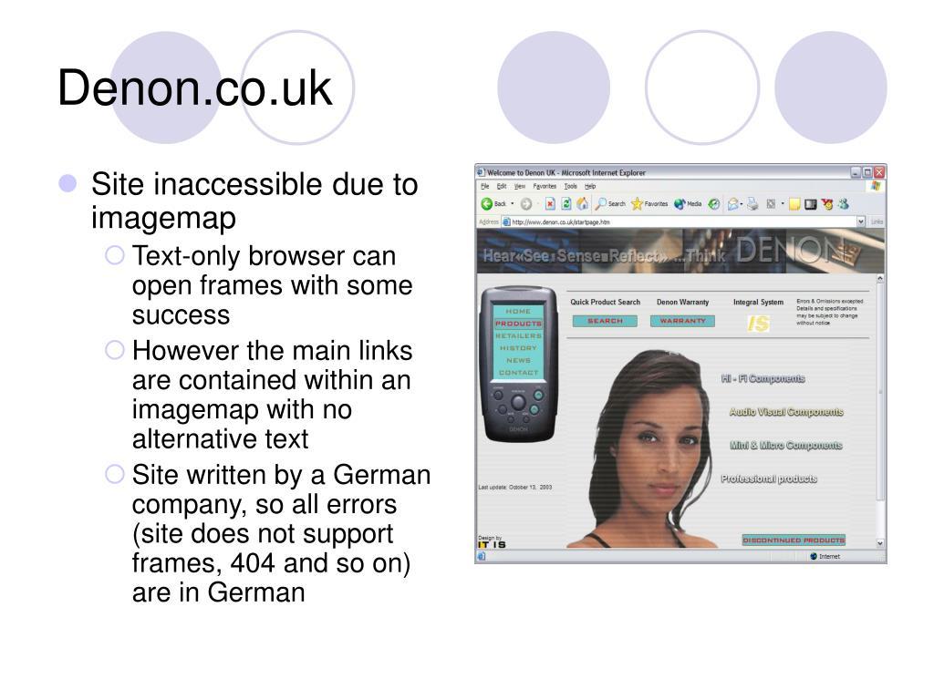 Denon.co.uk