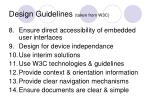design guidelines taken from w3c24