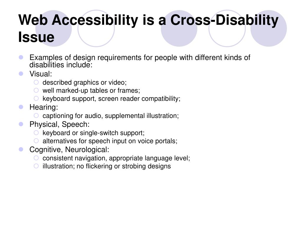 Web Accessibility is a Cross-Disability Issue