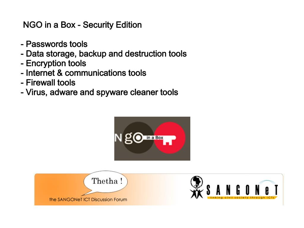 NGO in a Box - Security Edition