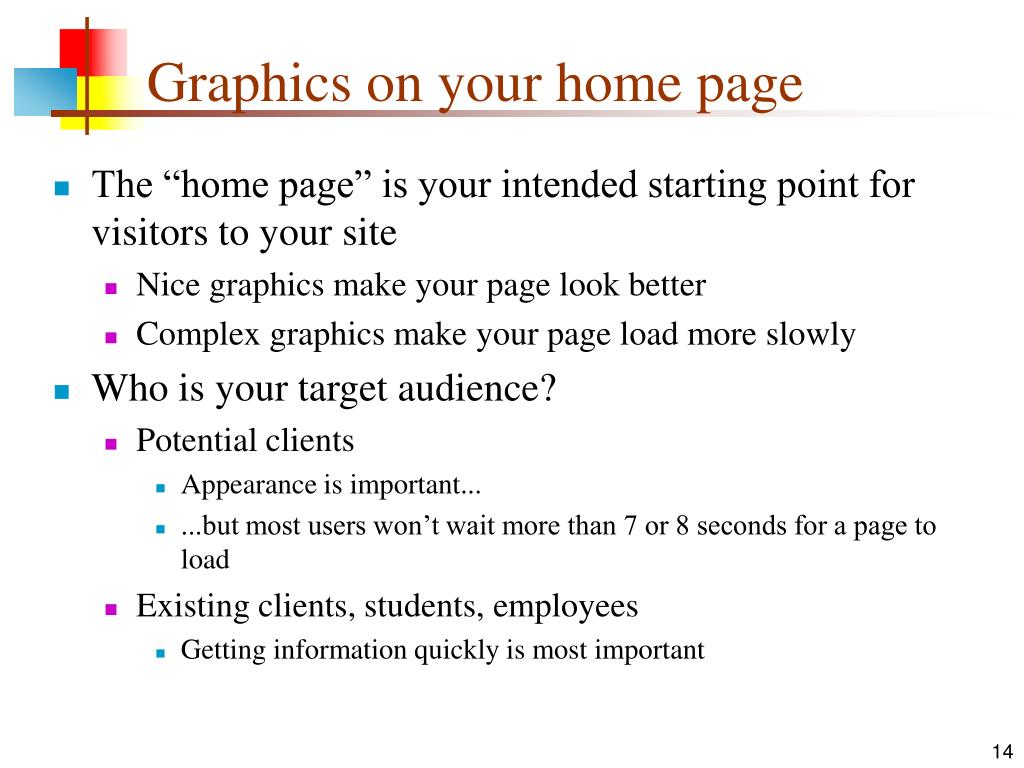 Graphics on your home page