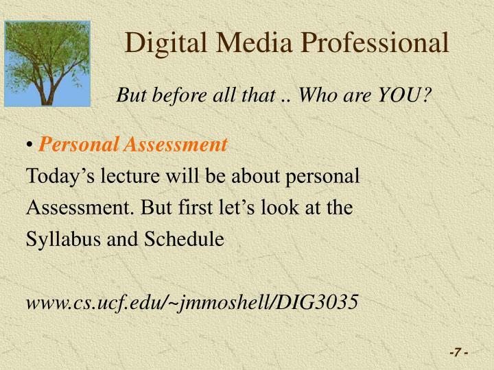Digital Media Professional