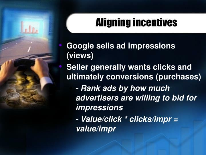 Aligning incentives
