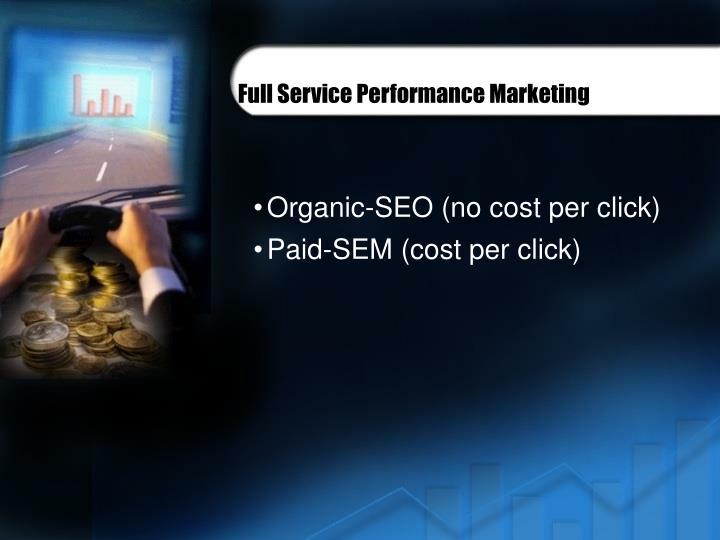 Full Service Performance Marketing