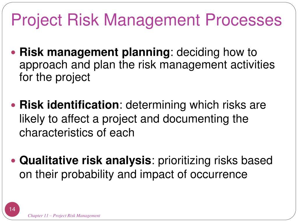 Project Risk Management: Chapter 11: Project Risk Management PowerPoint