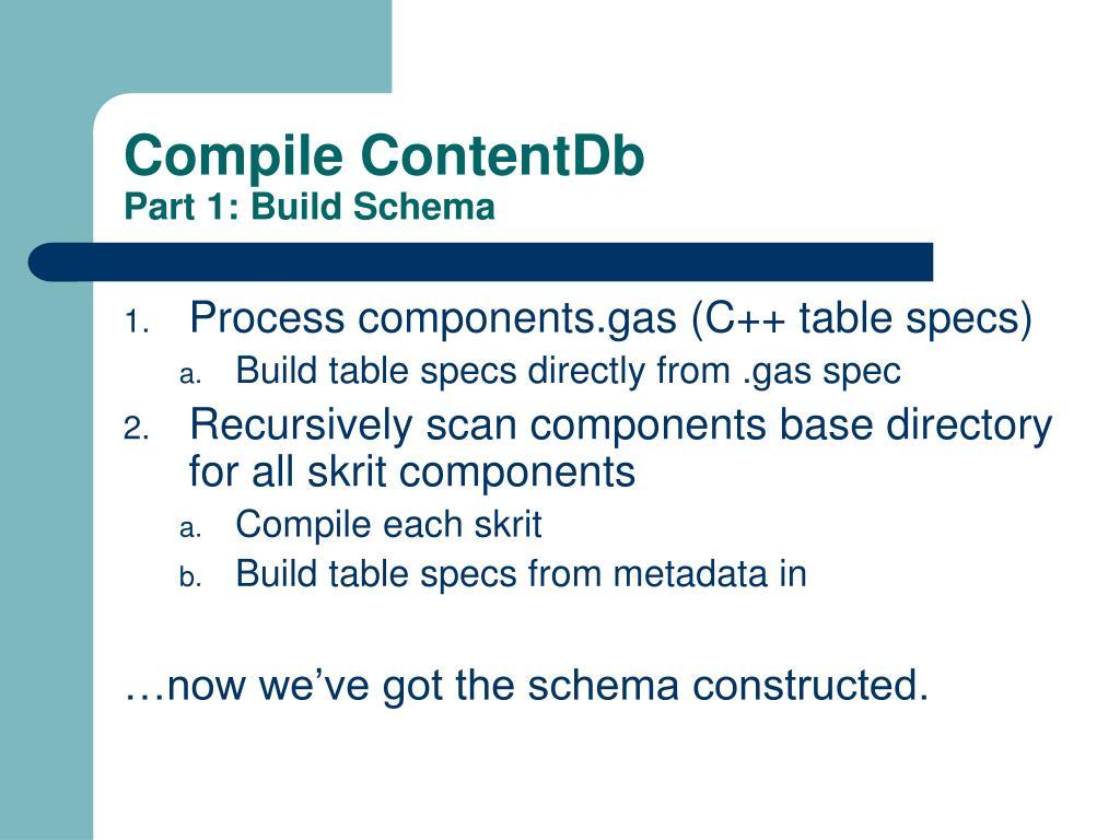 Compile ContentDb