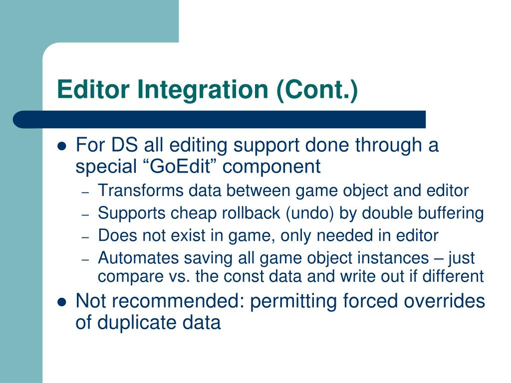 Editor Integration (Cont.)
