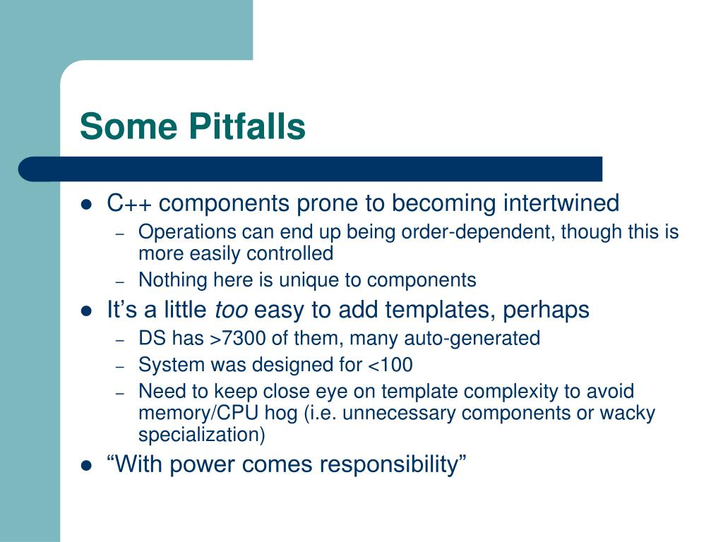 Some Pitfalls