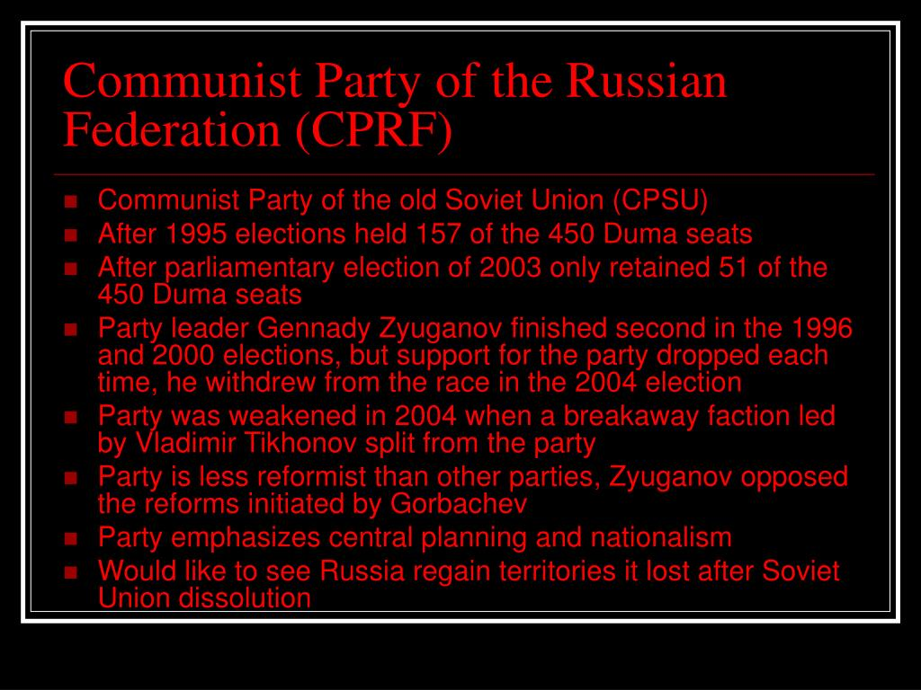 Communist Party of the Russian Federation (CPRF)