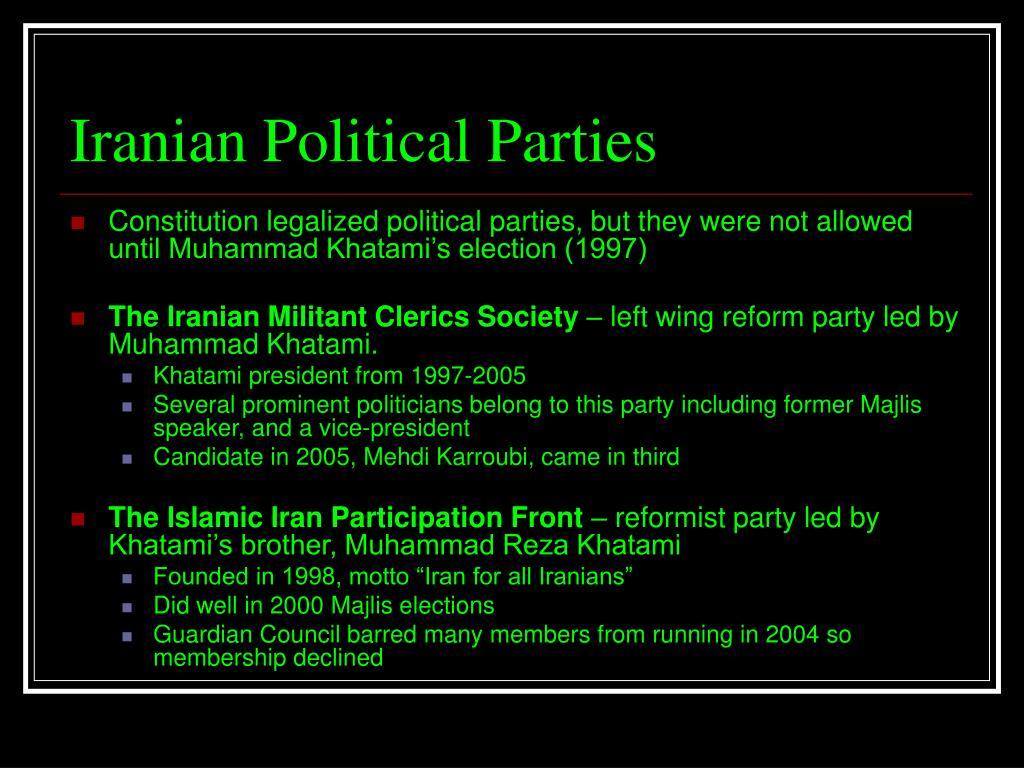 Iranian Political Parties