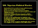 xii nigerian political parties