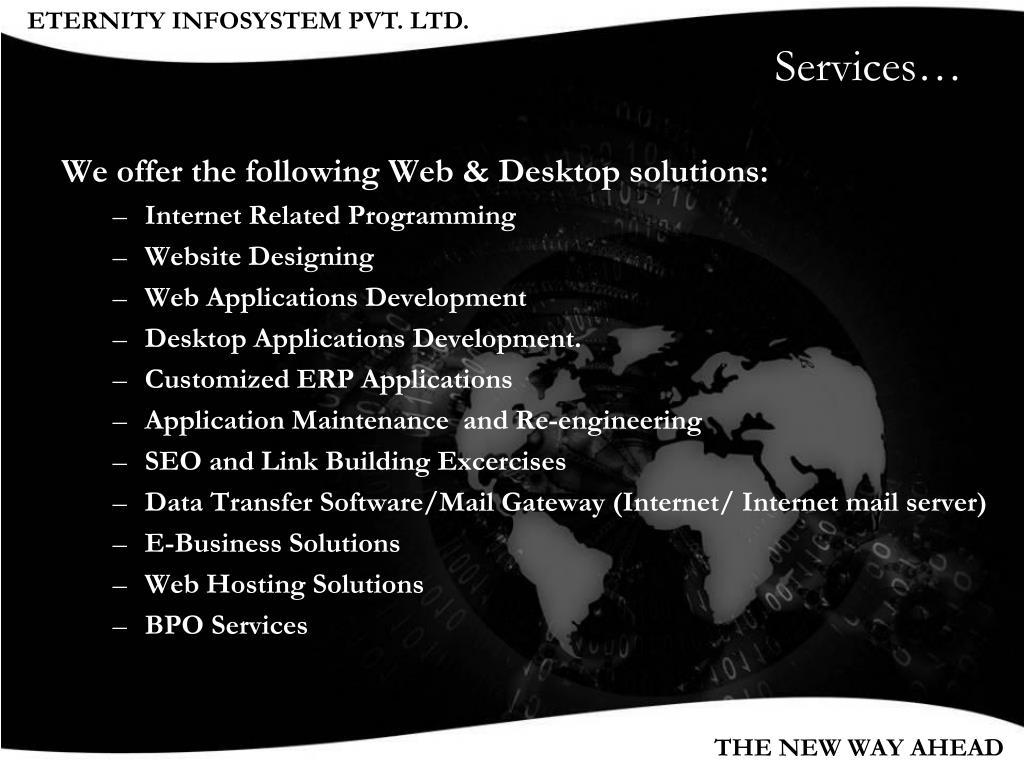 Services…