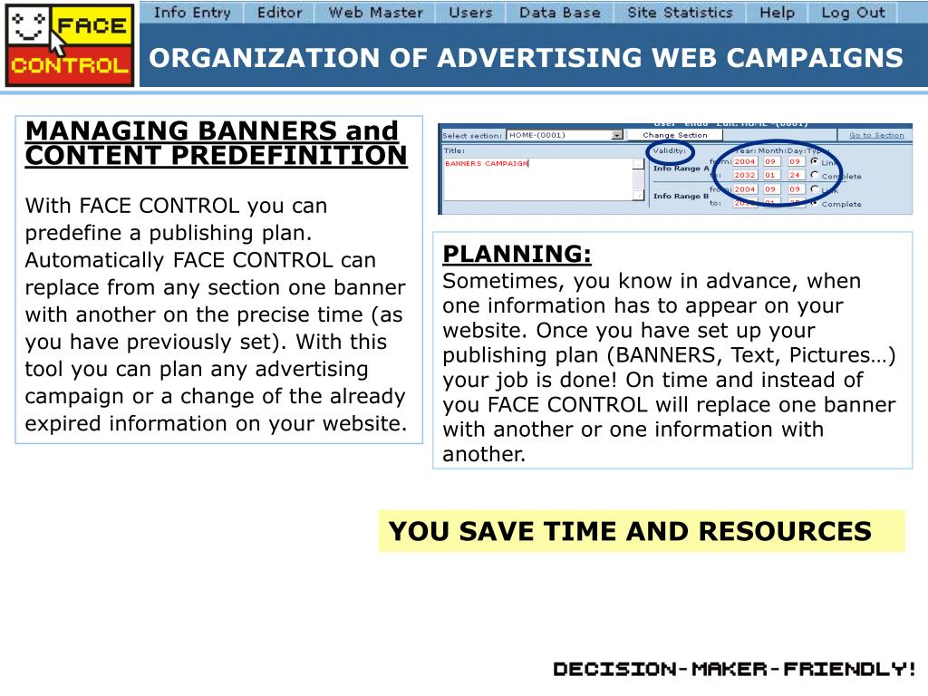ORGANIZATION OF ADVERTISING WEB CAMPAIGNS
