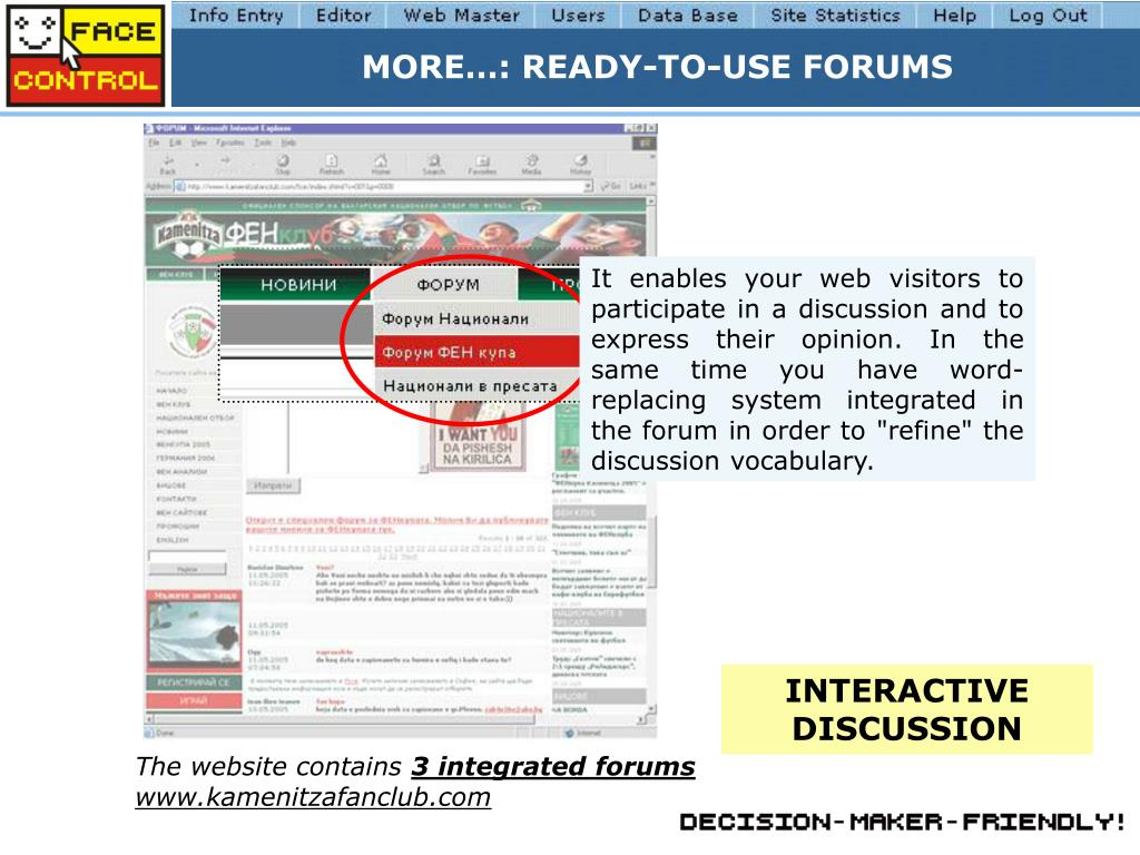 MORE…: READY-TO-USE FORUMS