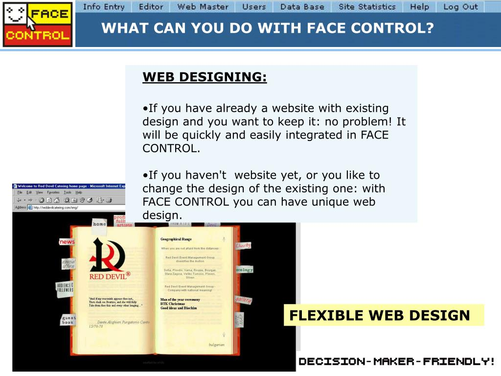 WHAT CAN YOU DO WITH FACE CONTROL?