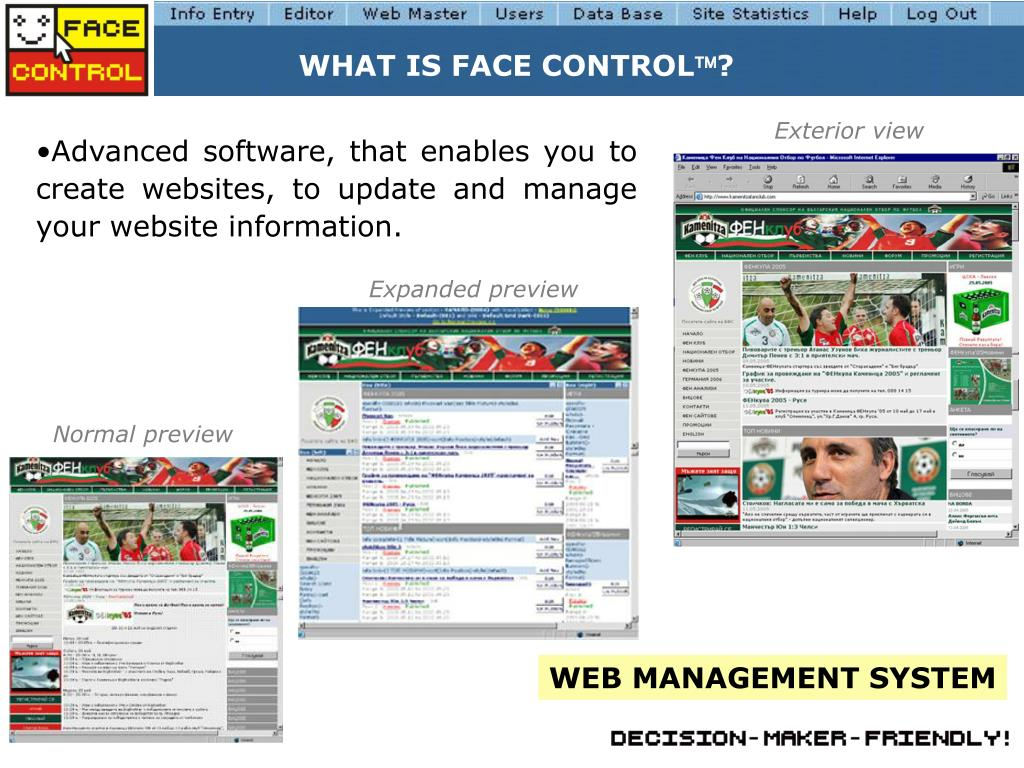WHAT IS FACE CONTROL