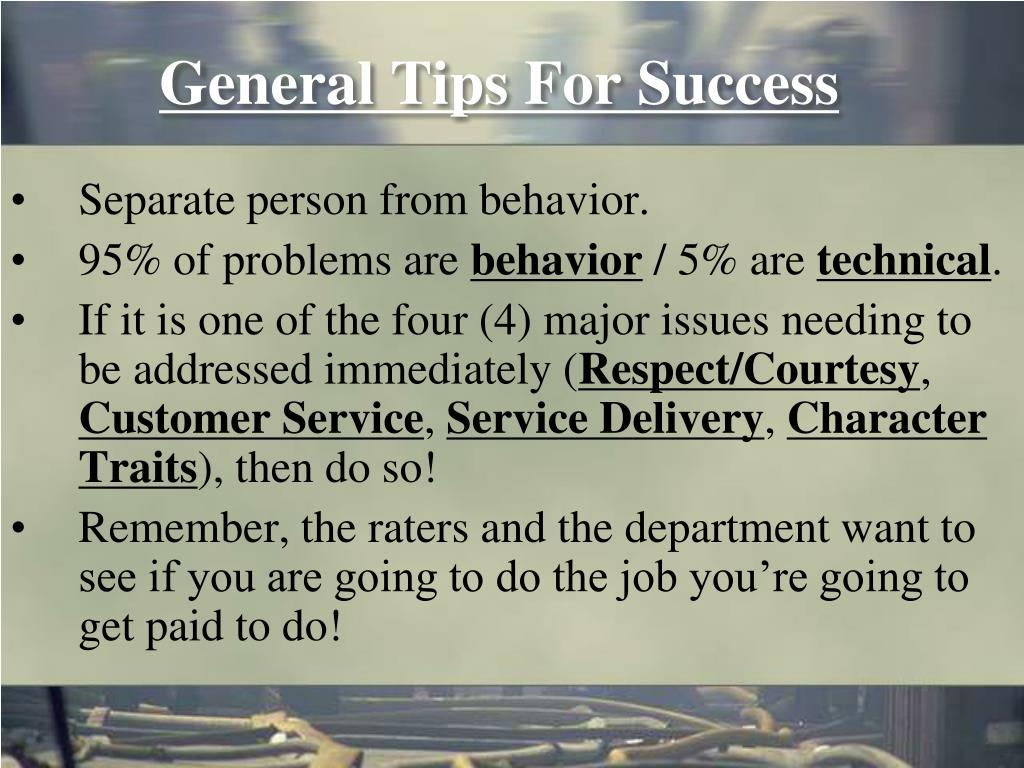 General Tips For Success