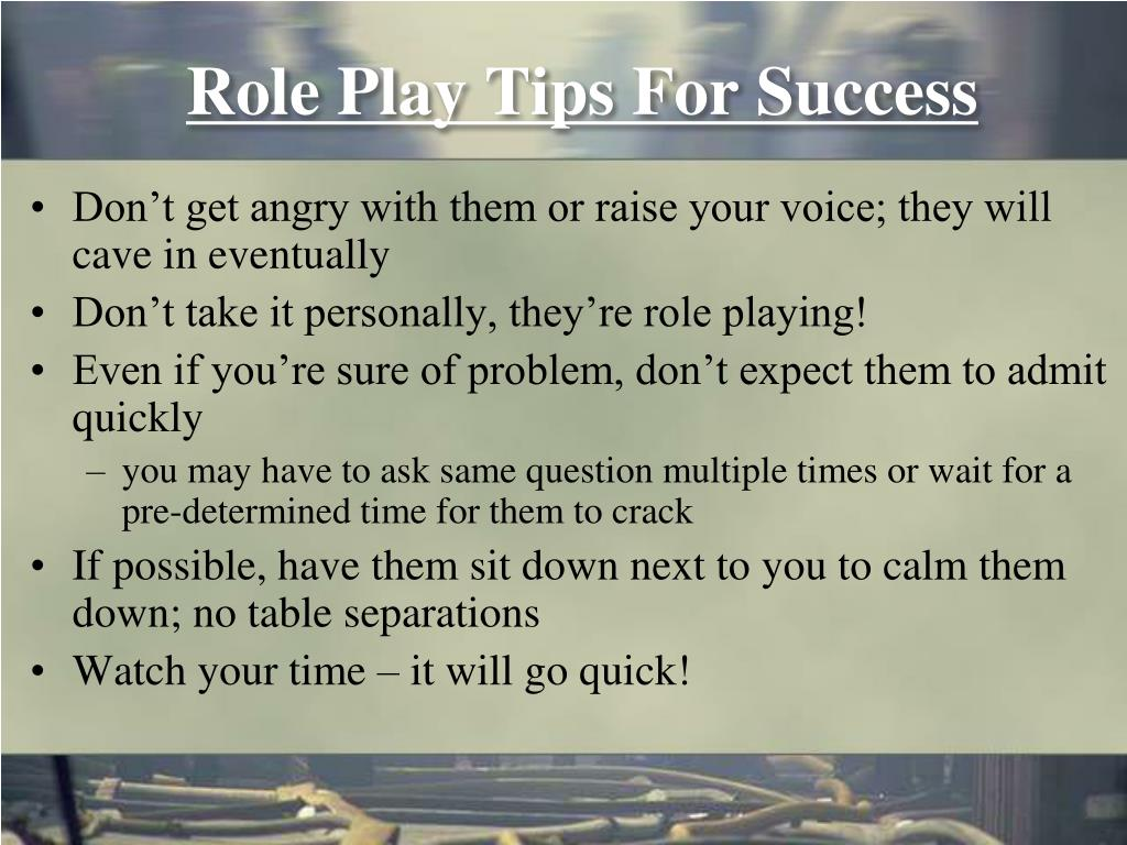 Role Play Tips For Success