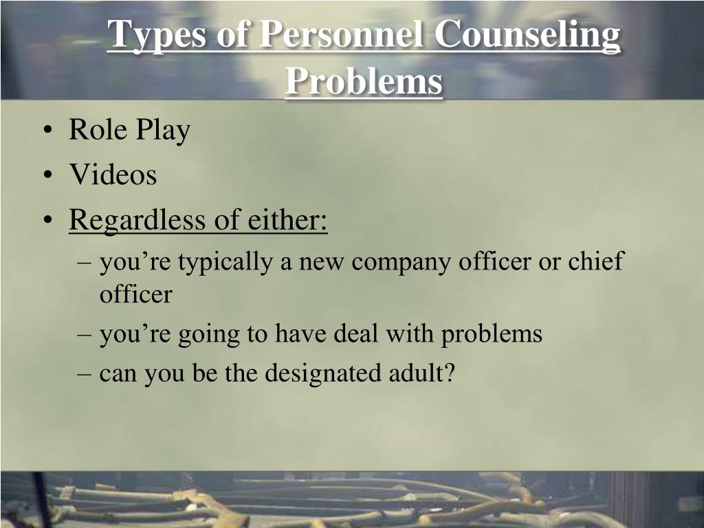 Types of Personnel Counseling