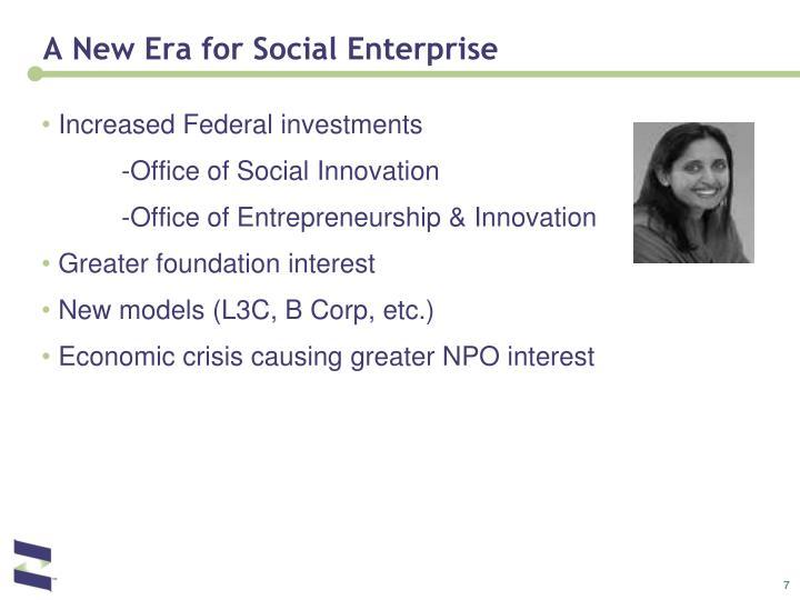 A New Era for Social Enterprise