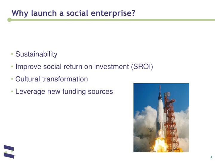 Why launch a social enterprise?