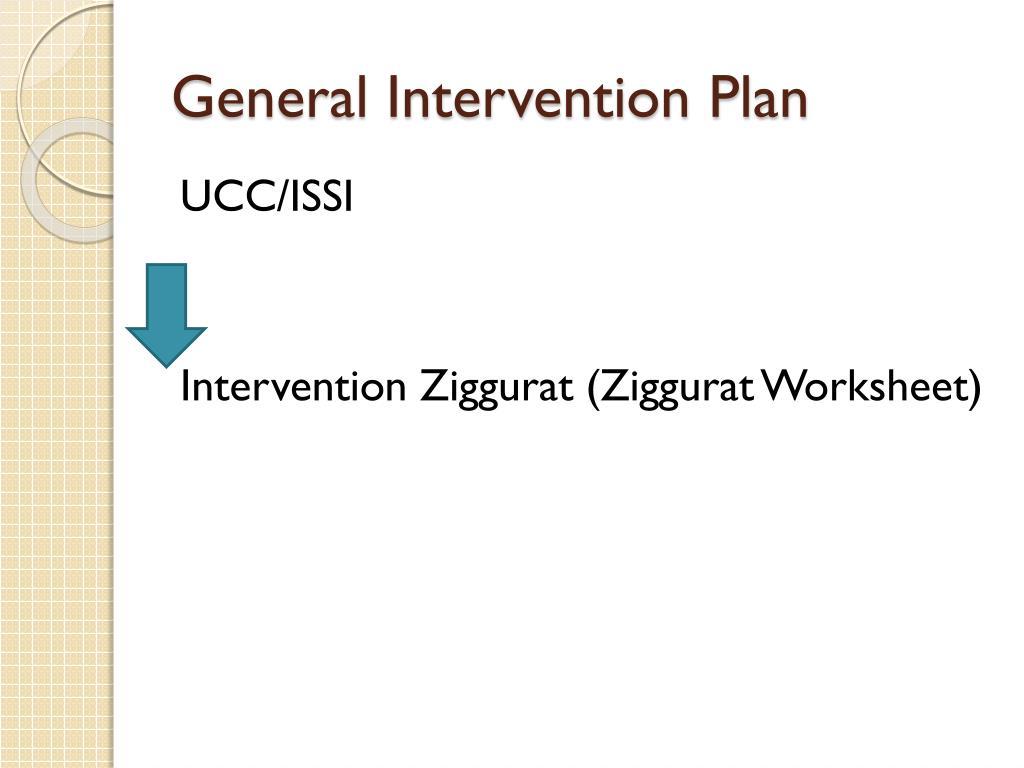 General Intervention Plan