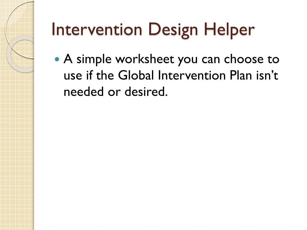 Intervention Design Helper