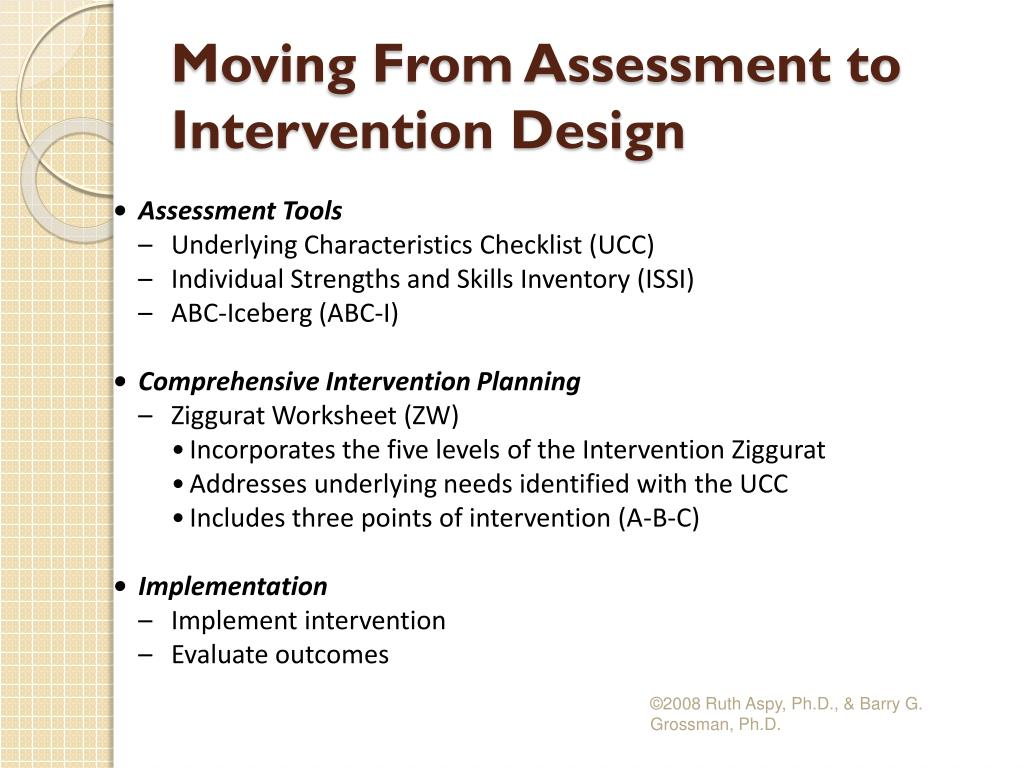 Moving From Assessment to Intervention Design