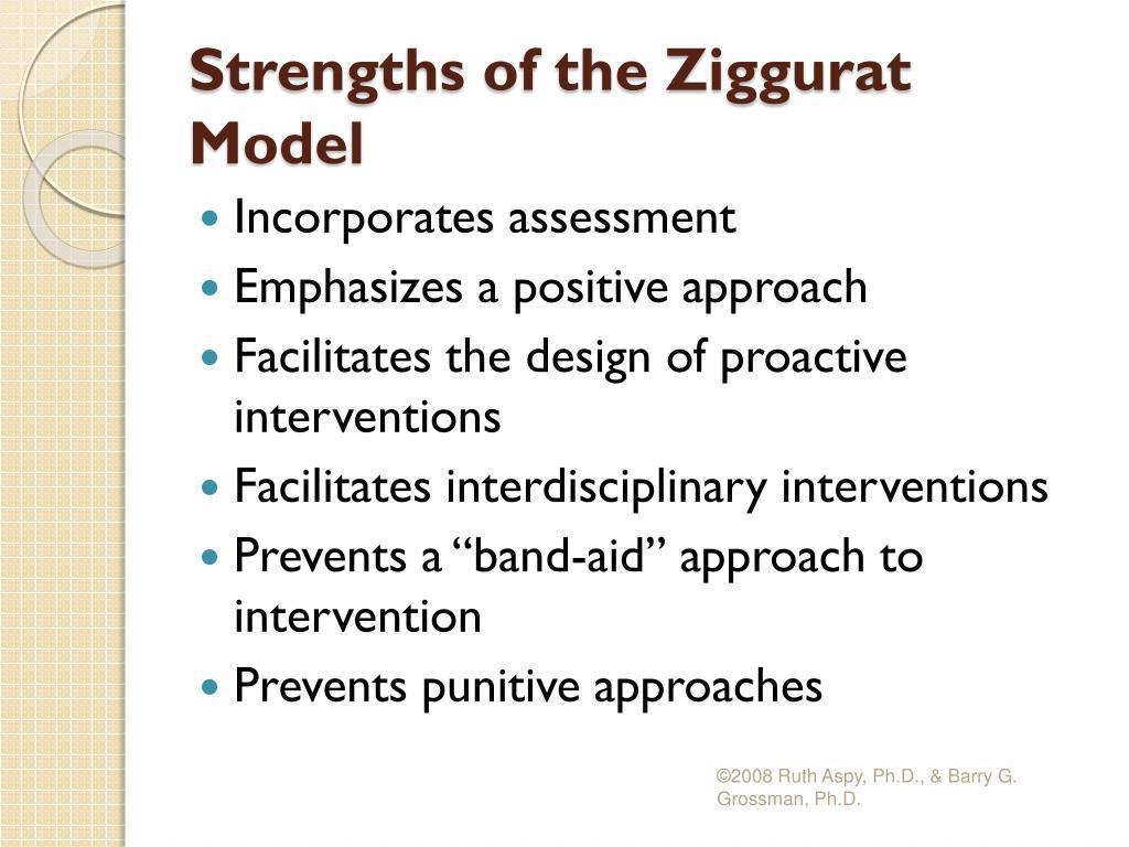 Strengths of the Ziggurat Model
