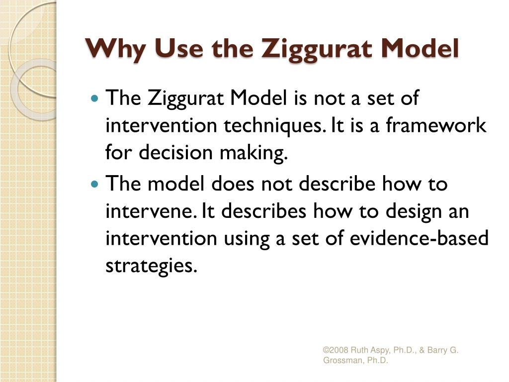Why Use the Ziggurat Model