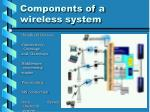components of a wireless system