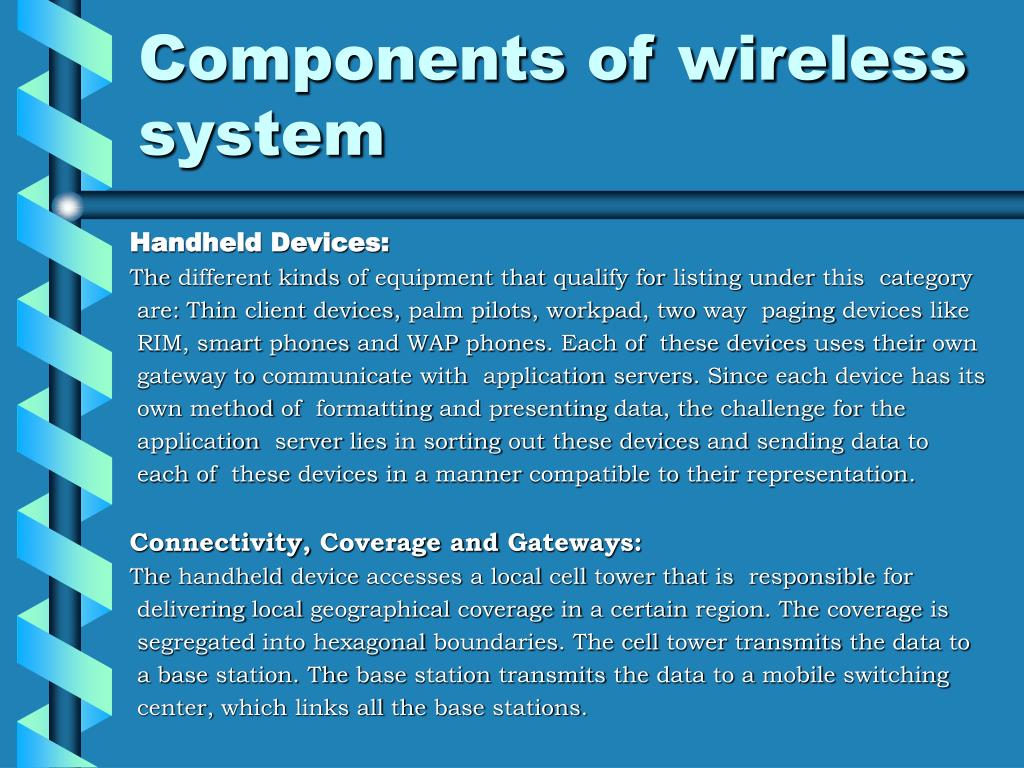 Components of wireless system