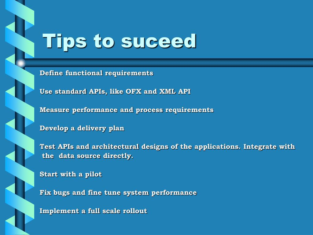 Tips to suceed