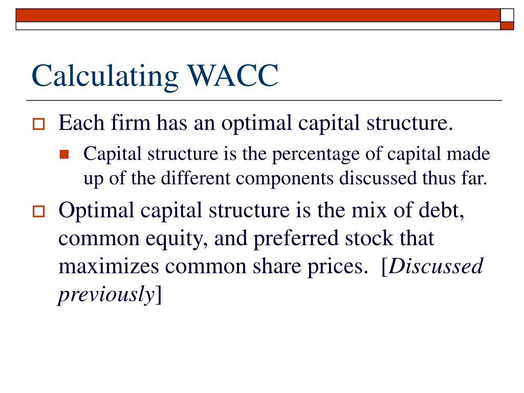 Calculating WACC