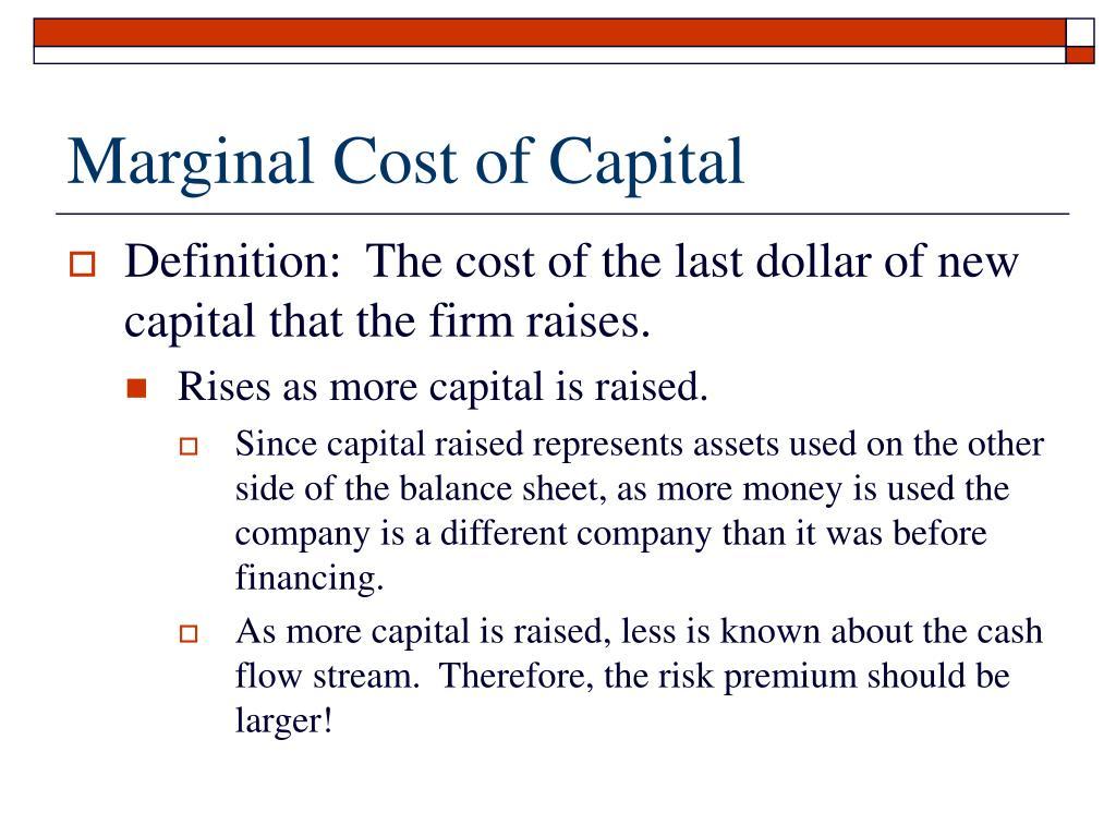Marginal Cost of Capital