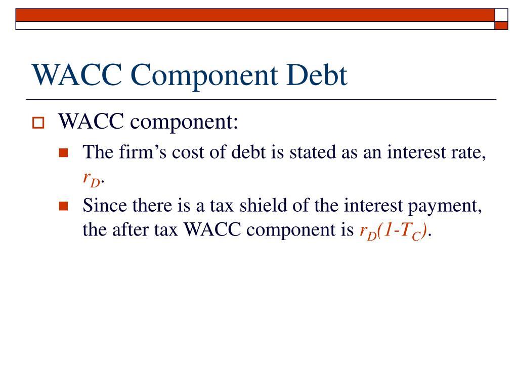 WACC Component Debt