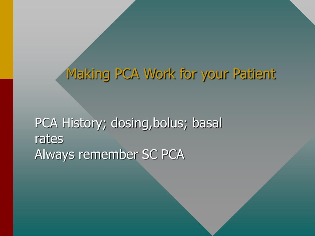 Making PCA Work for your Patient