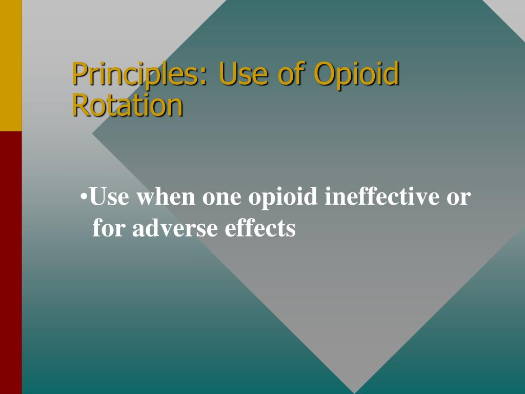 Principles: Use of Opioid Rotation