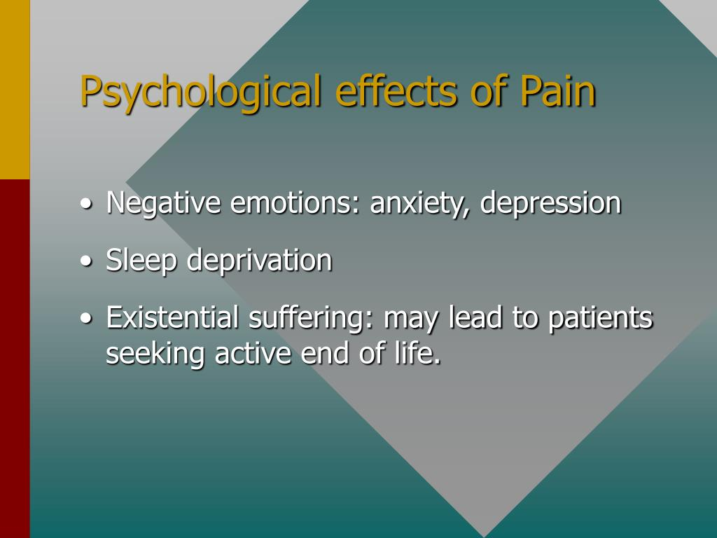 Psychological effects of Pain