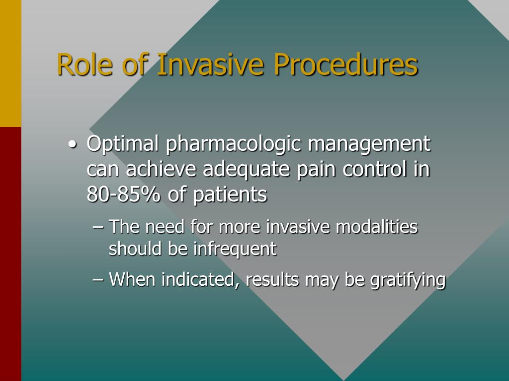 Role of Invasive Procedures